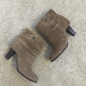 BCBG suede cuffed Booties